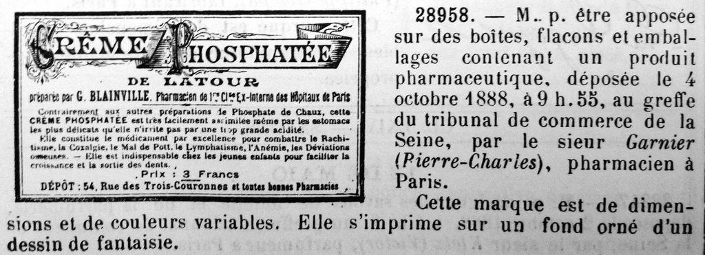 Crème Phosphatée de LATOUR